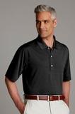 Greg Norman Play Dry Horizontal Textured Polo Shirt Black Thumbnail
