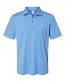 Floating 3-Stripes Sport Shirt True Blue Heather with Grey Three Thumbnail
