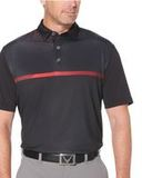 Modern Chest Stripe Polo Black Thumbnail