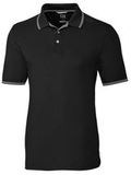 Advantage Tipped Polo Big and Tall Black Thumbnail