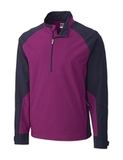 Men's Cutter & Buck WeatherTec Summit Half Zip Cabernet Thumbnail