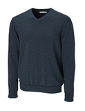 Men's CB Big & Tall Broadview V-neck Sweater Navy Blue Heather Thumbnail