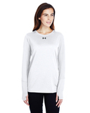 Women's Under Armour Long-Sleeve Locker T-Shirt 2.0 White Thumbnail