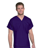 Unisex Scrub Top Grape Thumbnail