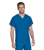 Unisex Scrub Top Nautical Blue Thumbnail