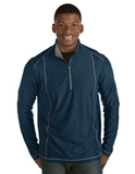 Antigua Men's Tempo Pullover Navy with Steel Thumbnail