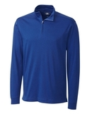 Cutter & Buck Men's Pima Cotton Long Sleeve Belfair Half-Zip Mock Turtleneck Tour Blue Thumbnail