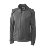 Women's Cutter & Buck DryTec Edge Full-Zip Jacket Elemental Grey with Black Thumbnail
