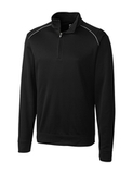 Cutter & Buck Men's Weathertec Big & Tall Ridge Pullover Black Thumbnail