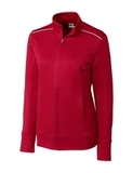 Women's Cutter & Buck Weathertec Ridge Full-Zip Jacket Cardinal Red Thumbnail