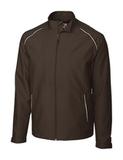 Men's Cutter & Buck WeatherTec Beacon Full Zip Jacket Bark Thumbnail