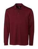 Cutter & Buck Men's Pima Cotton Long Sleeve Belfair Polo Shirt Bordeaux Thumbnail