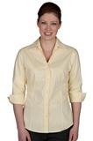 V-neck 3/4 Sleeve Tailored Blouse French Blue Thumbnail