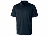 Men's Prospect Textured Stretch Polo Navy Blue Thumbnail