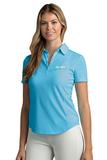 Women's Greg Norman Play Dry Foreward Series Polo Caribbean Blue Thumbnail