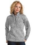 Antigua Women's Fortune Pullover Light Grey Heather Thumbnail