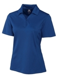 Women's Cutter & Buck DryTec Extended Sizes Genre Polo Shirt Tour Blue Thumbnail