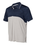 Adidas - Colorblocked Mélange Sport Shirt Collegiate Navy Melange with Mid Grey Melange Thumbnail