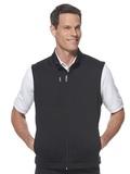 Callaway Full-Zip Knit Fleece Vest Black Thumbnail