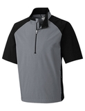 Men's Cutter & Buck WeatherTec Short Sleeve Summit 1/2-Zip Gravel Thumbnail