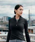 Women's Cutter & Buck Traverse Half-Zip Jersey Knit Thumbnail