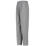 Baggy Checkered Chef Pant With Drawcord Elastic Waistband Thumbnail