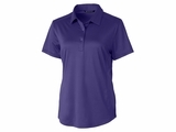 Ladies Prospect Textured Stretch Polo College Purple Thumbnail
