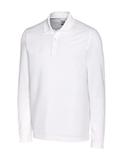 Cutter & Buck Men's Long-Sleeved DryTec Big & Tall Advantage Polo Shirt White Thumbnail