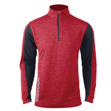 Reebok PlayDry Crossover 1/4 Zip Heather Red Thumbnail