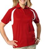 Women's Raglan Wicking Polo Red Thumbnail
