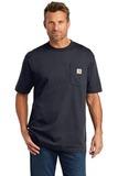 Carhartt Tall Workwear Pocket Short Sleeve T-Shirt Navy Thumbnail