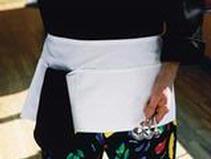 Waist Apron With 3-division Pocket Restaurant Uniform Thumbnail