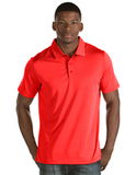 Antigua Quest Polo Shirt Bright Red with White Thumbnail