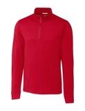Cutter & Buck Big and Tall Long Sleeve Advantage Half-Zip Mock Turtleneck Cardinal Red Thumbnail