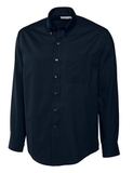 Men's Cutter & Buck Big & Tall Long Sleeve Epic Easy Care Fine Twill Navy Blue Thumbnail