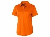 Ladies Prospect Textured Stretch Polo Orange Burst Thumbnail