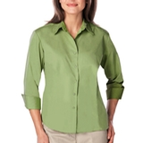 Women's 3/4 Sleeve Easy Care Poplin With Matching Buttons Cactus Thumbnail