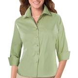 Women's 3/4 Sleeve Stretch Poplin Shirt Cactus Thumbnail