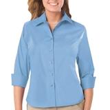 Women's 3/4 Sleeve Stretch Poplin Shirt Light Blue Thumbnail