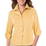 Women's 3/4 Sleeve Stretch Poplin Shirt Maize Thumbnail