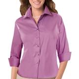 Women's 3/4 Sleeve Stretch Poplin Shirt Mulberry Thumbnail
