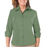 Women's 3/4 Sleeve Stretch Poplin Shirt Sage Thumbnail