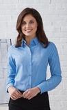 Women's Align Wrinkle Resistant Cotton Blend Dobby Vertical Striped Shirt Thumbnail