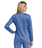Women's All Day Snap Front Warm Up Scrub Jacket Ceil (BCMST) Thumbnail