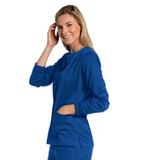 Women's All Day Snap Front Warm Up Scrub Jacket Galaxy Blue Thumbnail