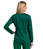 Women's All Day Snap Front Warm Up Scrub Jacket Hunter (GHMST) Thumbnail
