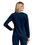 Women's All Day Snap Front Warm Up Scrub Jacket Navy Thumbnail