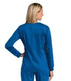 Women's All Day Snap Front Warm Up Scrub Jacket Royal (BEMST) Thumbnail
