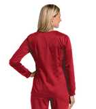 Women's All Day Snap Front Warm Up Scrub Jacket True Red (TRMST) Thumbnail