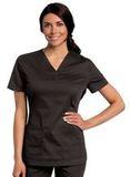 Women's All Day Y-Neck Scrub Tunic Black (BKMST) Thumbnail
